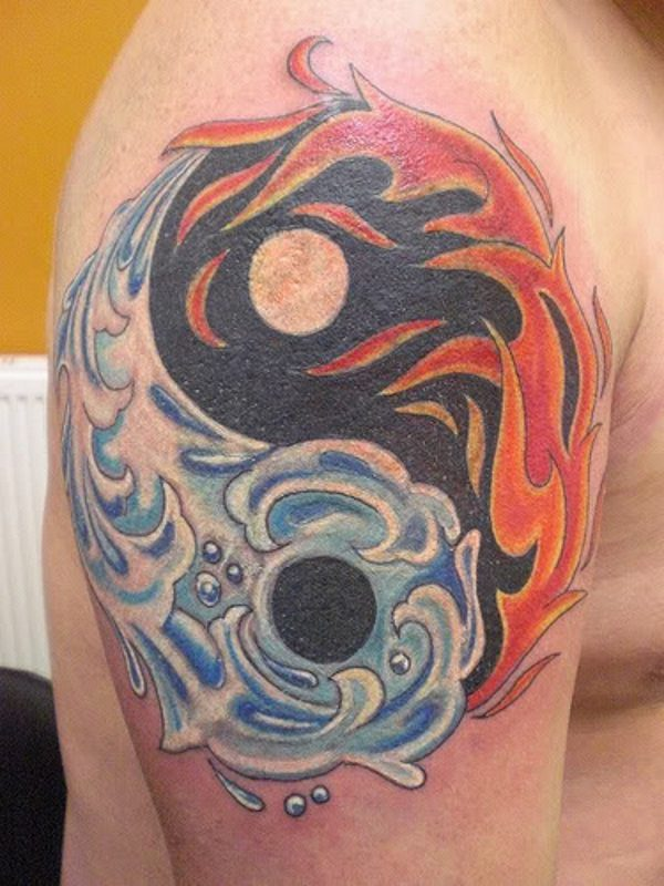yin and yang tattoo designs