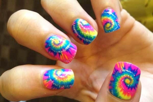 colorful nail art  15 Insane Colorful Nail Art Designs to Try colorful nail art 1