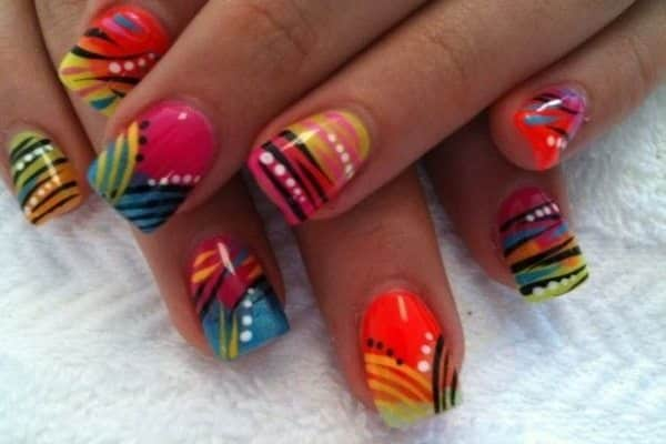 colorful nail art  15 Insane Colorful Nail Art Designs to Try colorful nail art 11