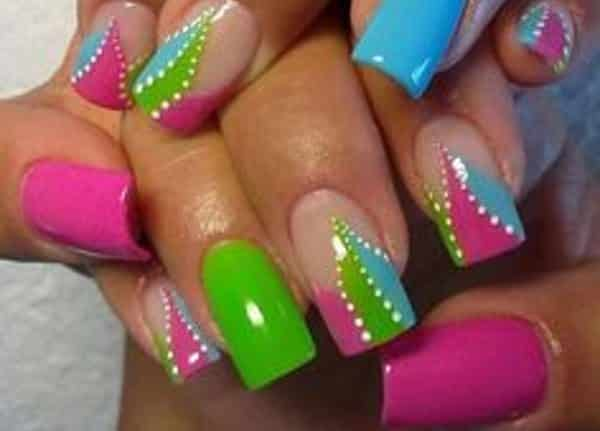 colorful nail art  15 Insane Colorful Nail Art Designs to Try colorful nail art 12