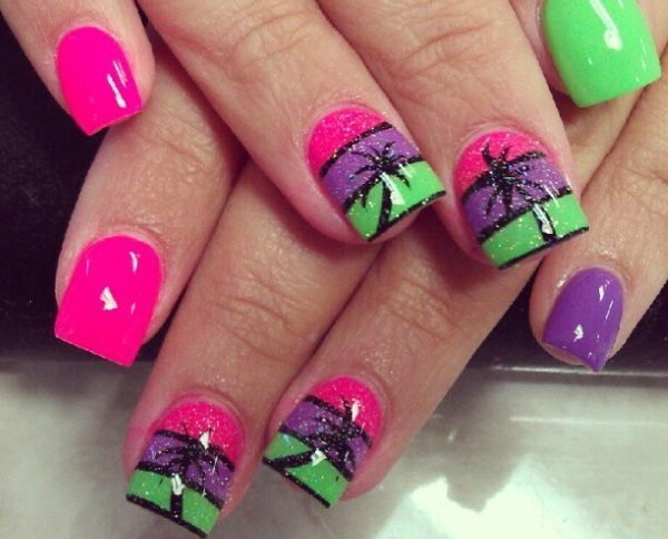 colorful nail art  15 Insane Colorful Nail Art Designs to Try colorful nail art 13