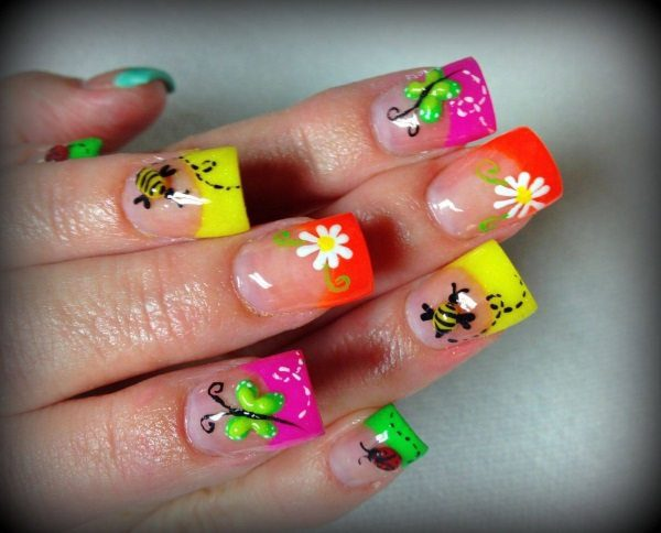 colorful nail art  15 Insane Colorful Nail Art Designs to Try colorful nail art 2