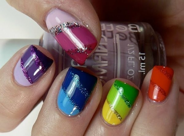 colorful nail art  15 Insane Colorful Nail Art Designs to Try colorful nail art 3
