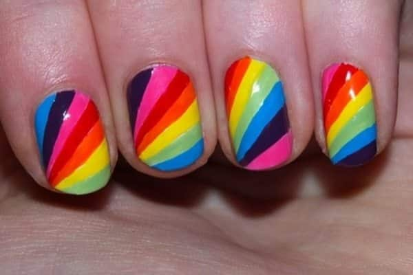 colorful nail art - 15 Insane Colorful Nail Art Designs To Try