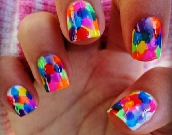 colorful nail art  15 Insane Colorful Nail Art Designs to Try colorful nail art 6