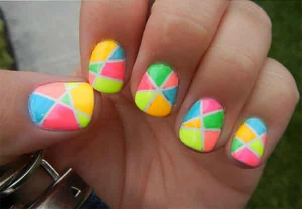colorful nail art  15 Insane Colorful Nail Art Designs to Try colorful nail art 7