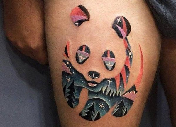 negative space tattoos
