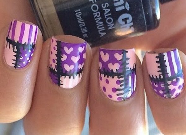 patchwork nail art