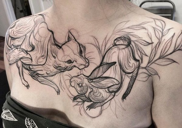 10 Awesome Sketch Tattoos