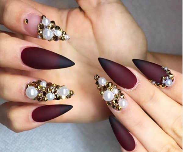 10 stunning stiletto nail designs to die for stiletto nails image source prinsesfo Image collections