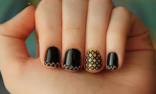 black-and-gold