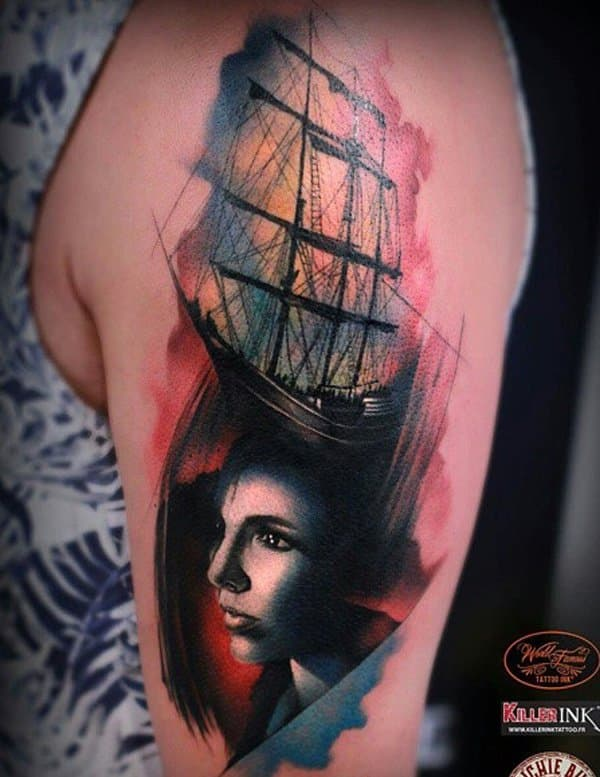 boat-tattoo-with-portrait