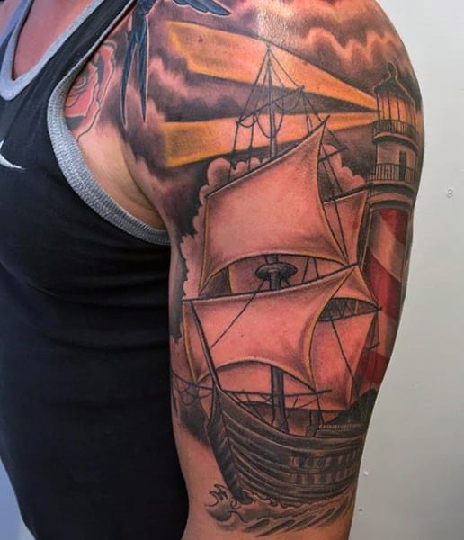 boat-with-lighthouse