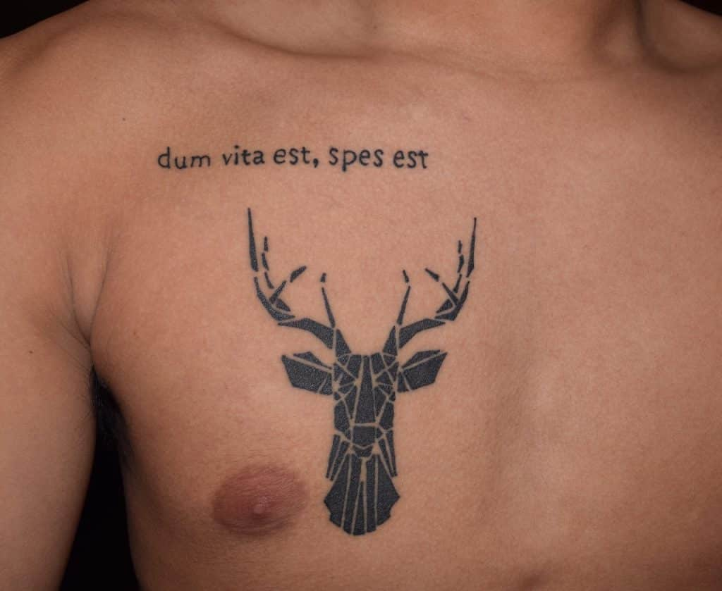 geometric-deer-with-quote