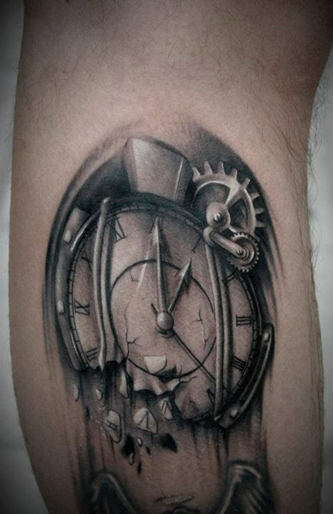 grey-ink-melting-clock
