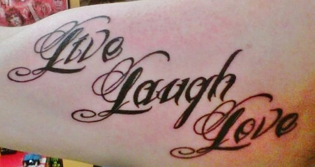 15 Cool Live Laugh Love Tattoos