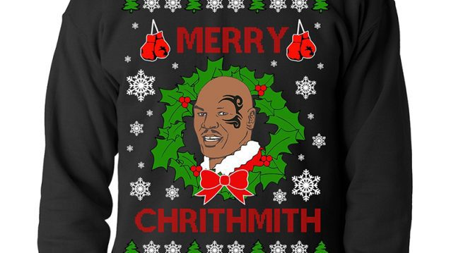 mike tyson merry chrithmith sweater