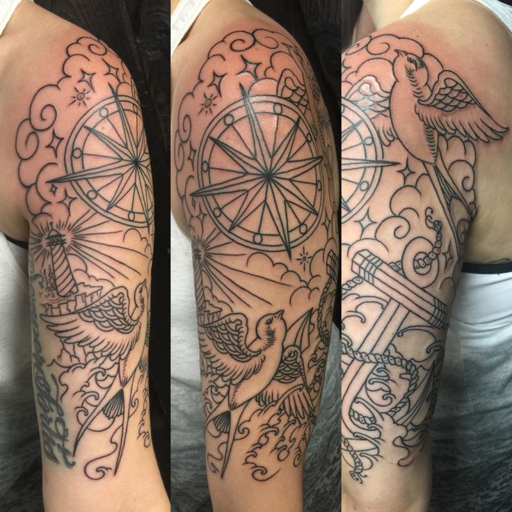 41240b3db Nautical Half Sleeve Tattoos - 20 Amazing Collections | Design Press