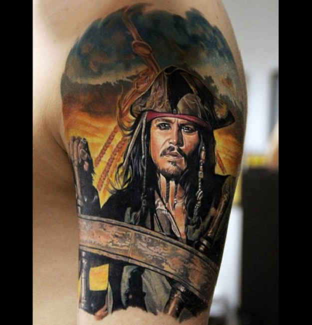 pirates-of-the-caribbean  25 Best Movie Tattoo Designs Pirates Of The Caribbean