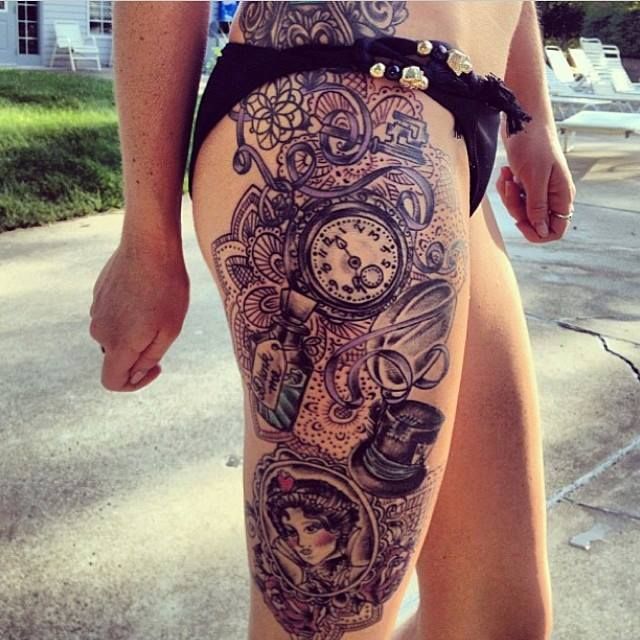 a97a133fc The Top 30 Pocket Watch Tattoos