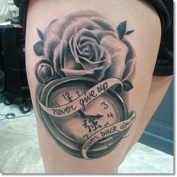 pocket-watch-tattoo-with-quote