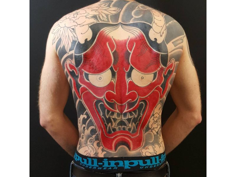 red-oni-mask-back-piece
