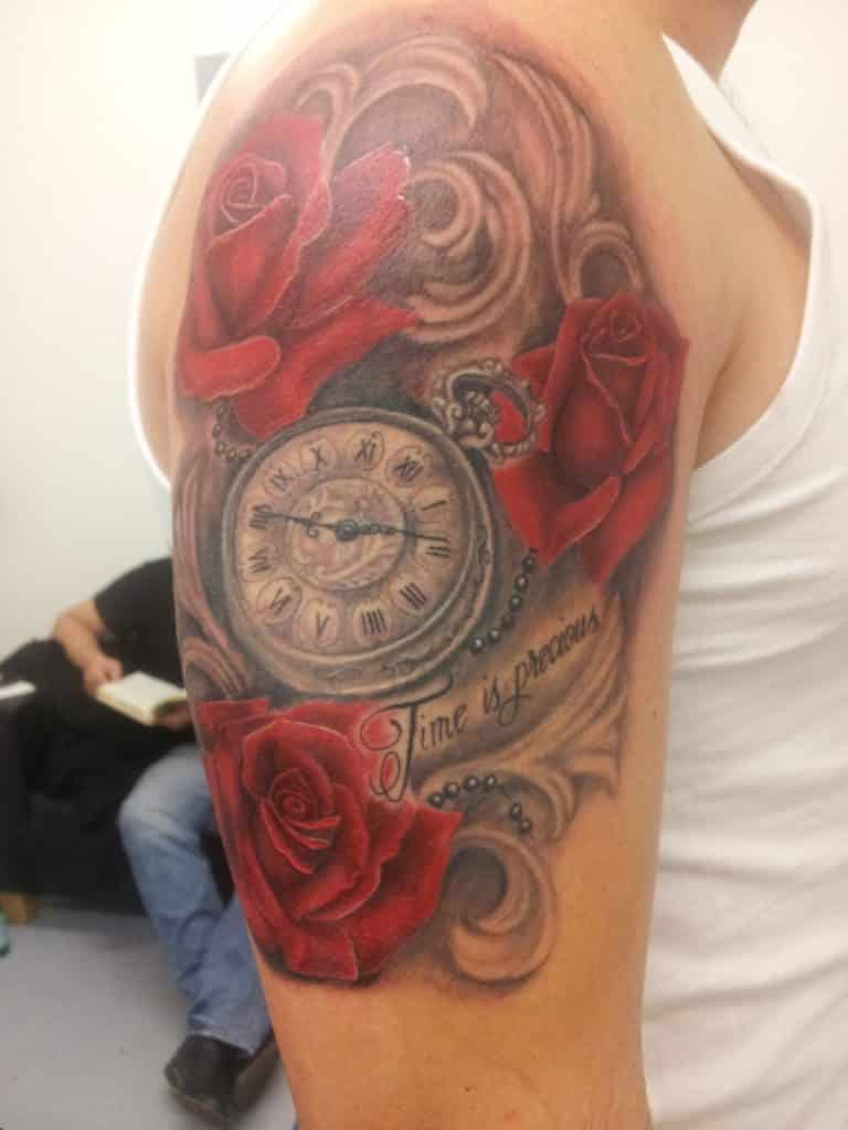 rose-and-clock