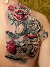 rose-and-clock-tattoo