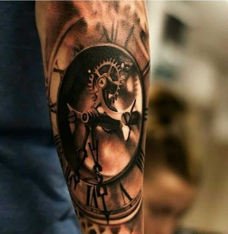 Sand clock tattoo designs  30 Incredible Clock Tattoo Designs