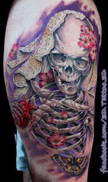 skeleton-with-flowers
