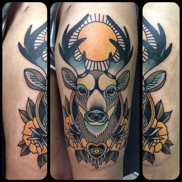 traditional-deer-tattoo