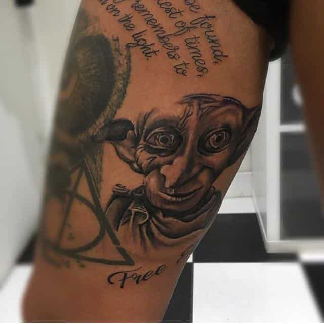 15 Adorable Dobby Tattoos Dobby With Quote Below