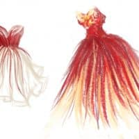 red-and-yellow-dress-sketches