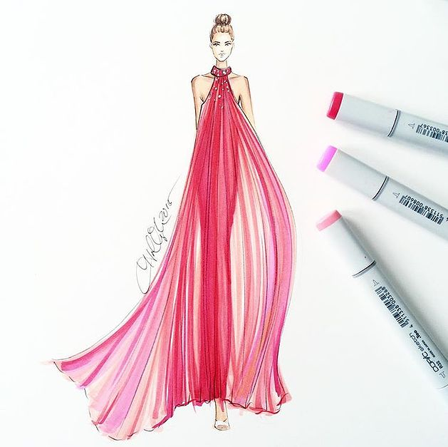 Congratulate, simply drawing fashion sketches dresses