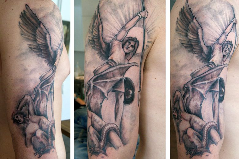 Good Vs Evil Tattoos 15 Amazing Collections Slodive