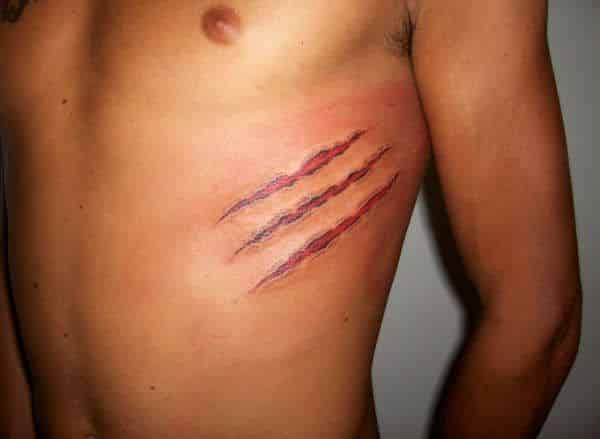 14 scratch mark tattoos that actually look painful rh slodive com tiger scratch mark tattoo Claw Scratch Marks