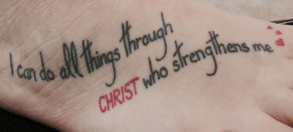 11 Meaningful I Can Do All Things Through Christ Tattoos