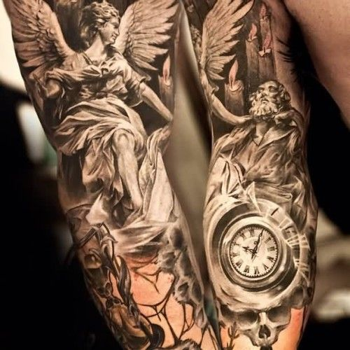 The Internets Top 10 Angel Sleeve Tattoos
