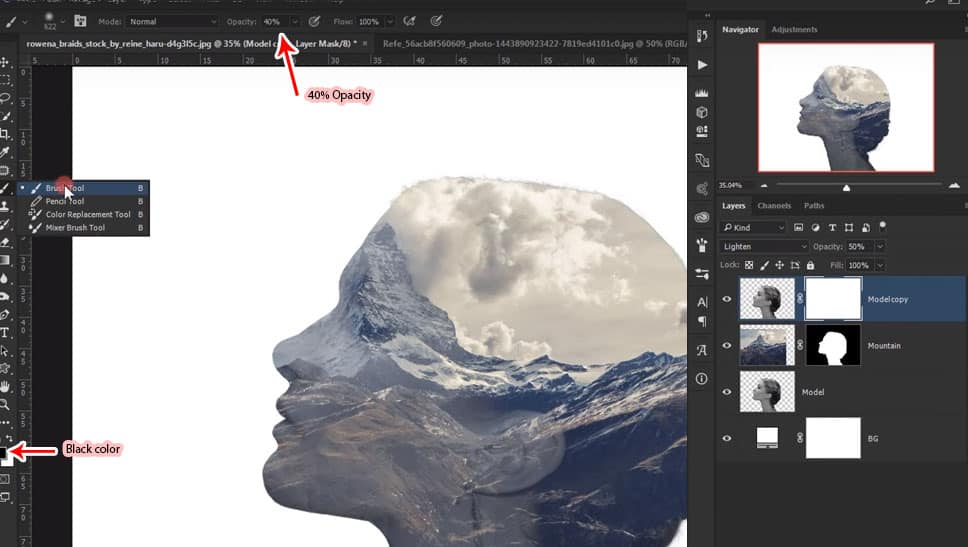 17 Step by Step Double Exposure Effect Tutorial in Adobe Photoshop