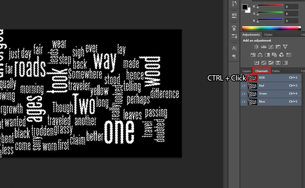 22 Step by Step Word Cloud Effect Tutorial in Photoshop