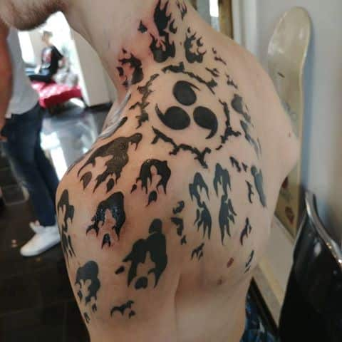 14 Interesting Sasuke curse Tattoo Variations