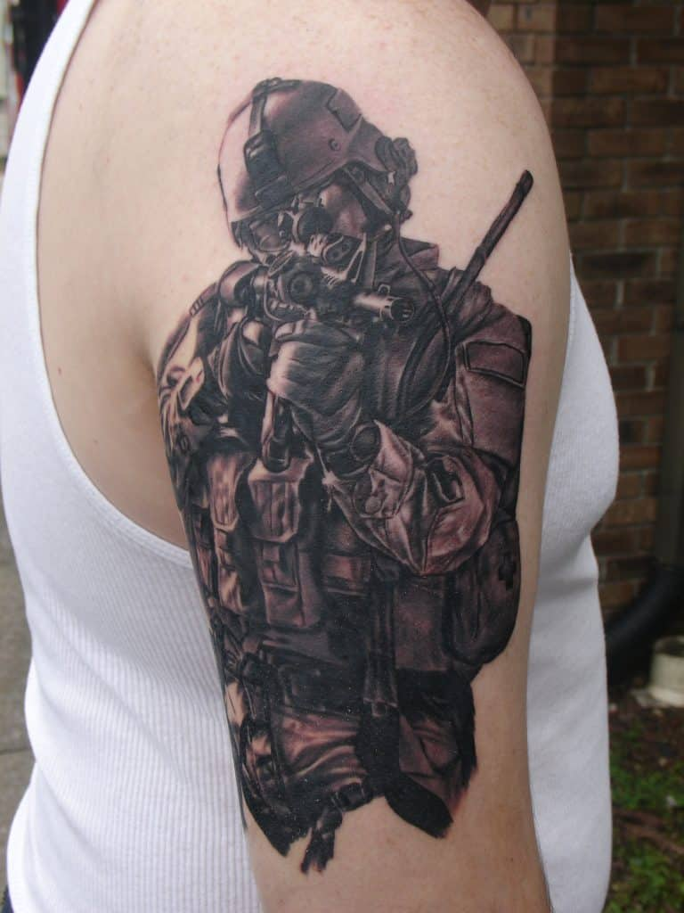 Army Special Forces kickass army tattoo