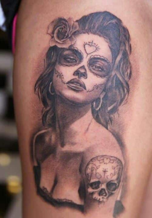 Catrina days of the dead tattoo