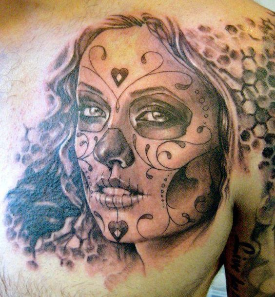 Dia De Los Muertos day of the dead tattoos