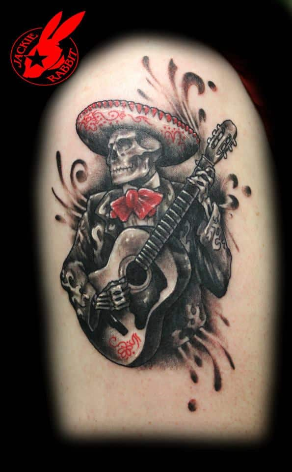 Music Never dies day of the dead tattoo