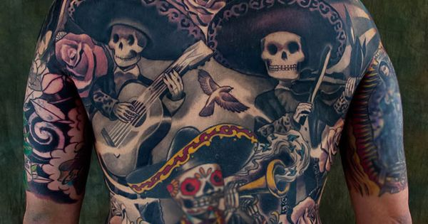 Plurabella Skull Skeleton 172 Day of the dead tattoo