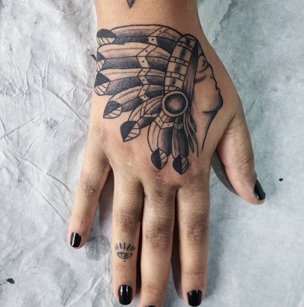 Indian Hand tattoos for women
