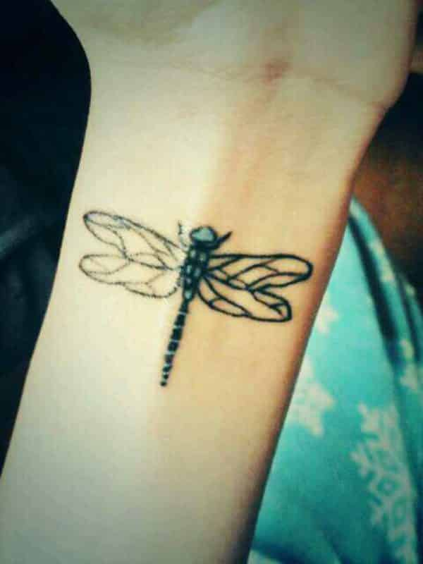 Stylish Dragonfly hand tattoos for women