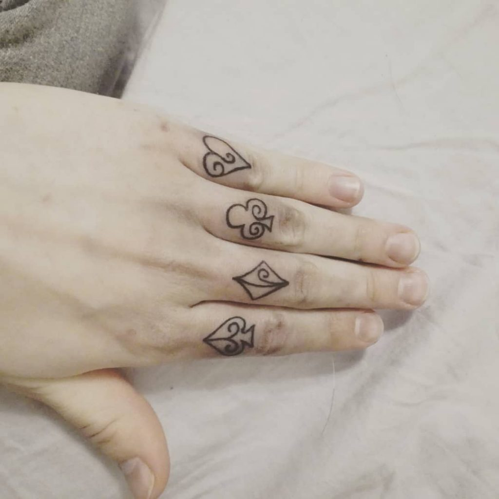 The Gambler's hand tattoos for women