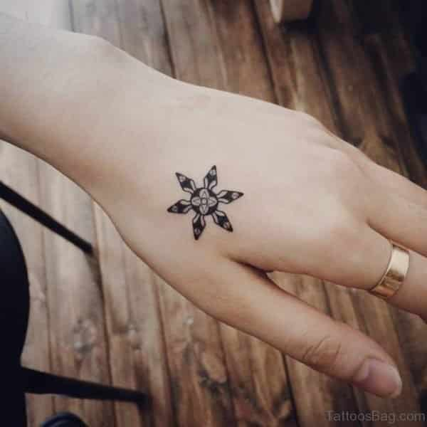 Unique Star hand tattoos for women
